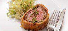 Solomillo Wellington con foie gras